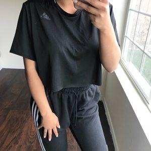 Black adidas crop